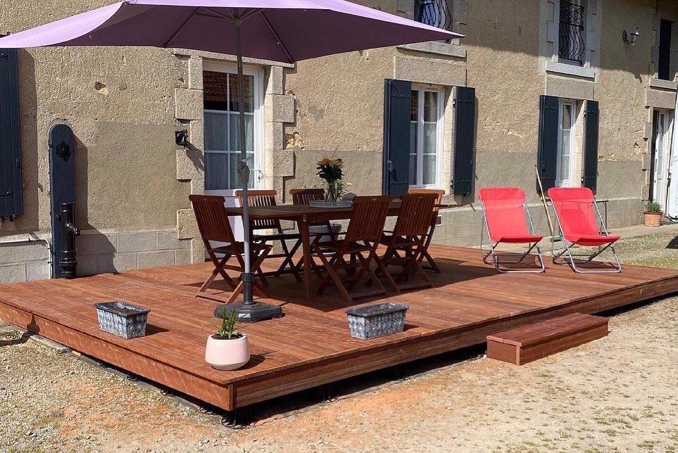 terrasse exterieure bois sur mesure